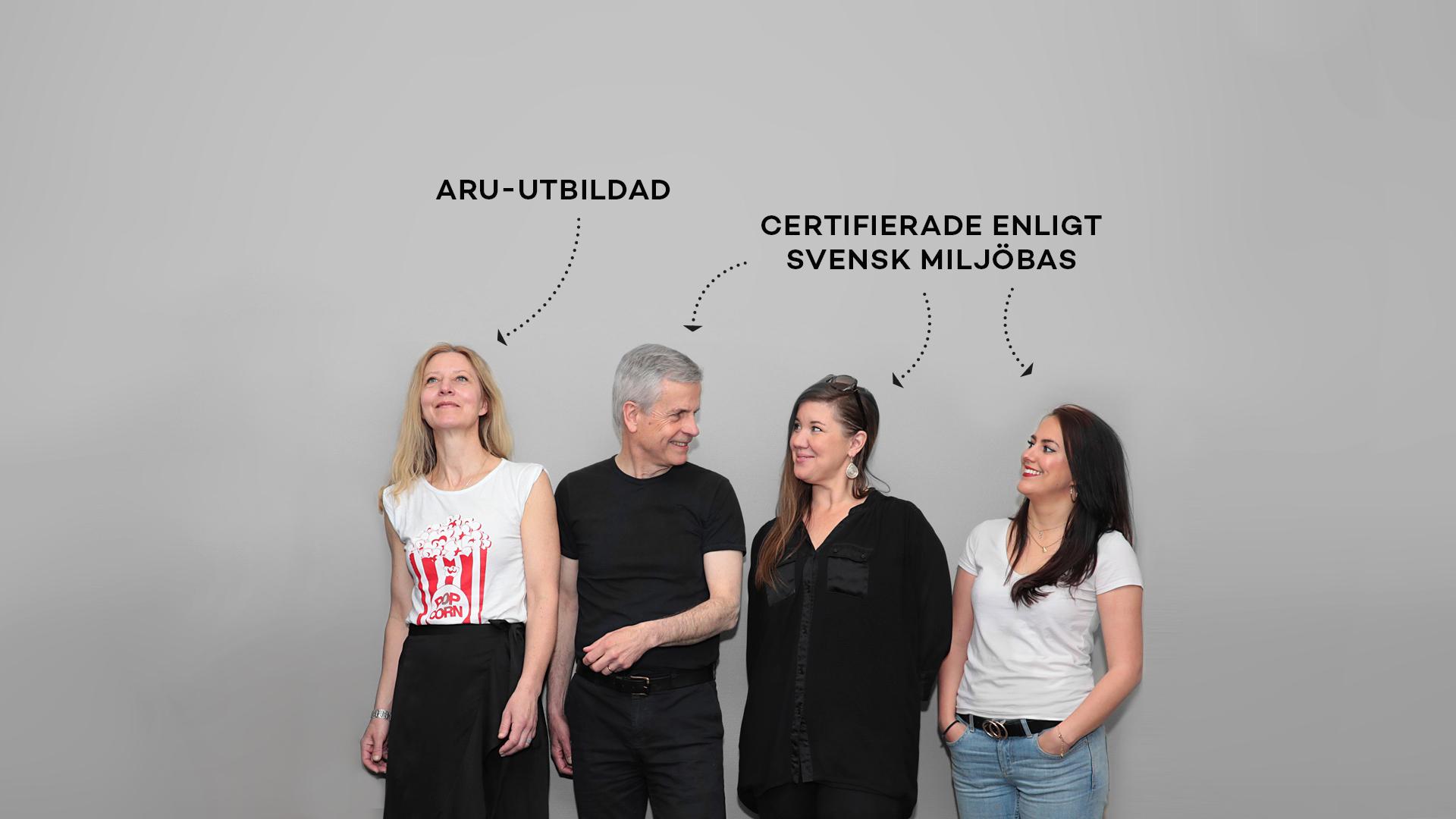 ARU-utbildade och certifierade enligt svensk miljöbas